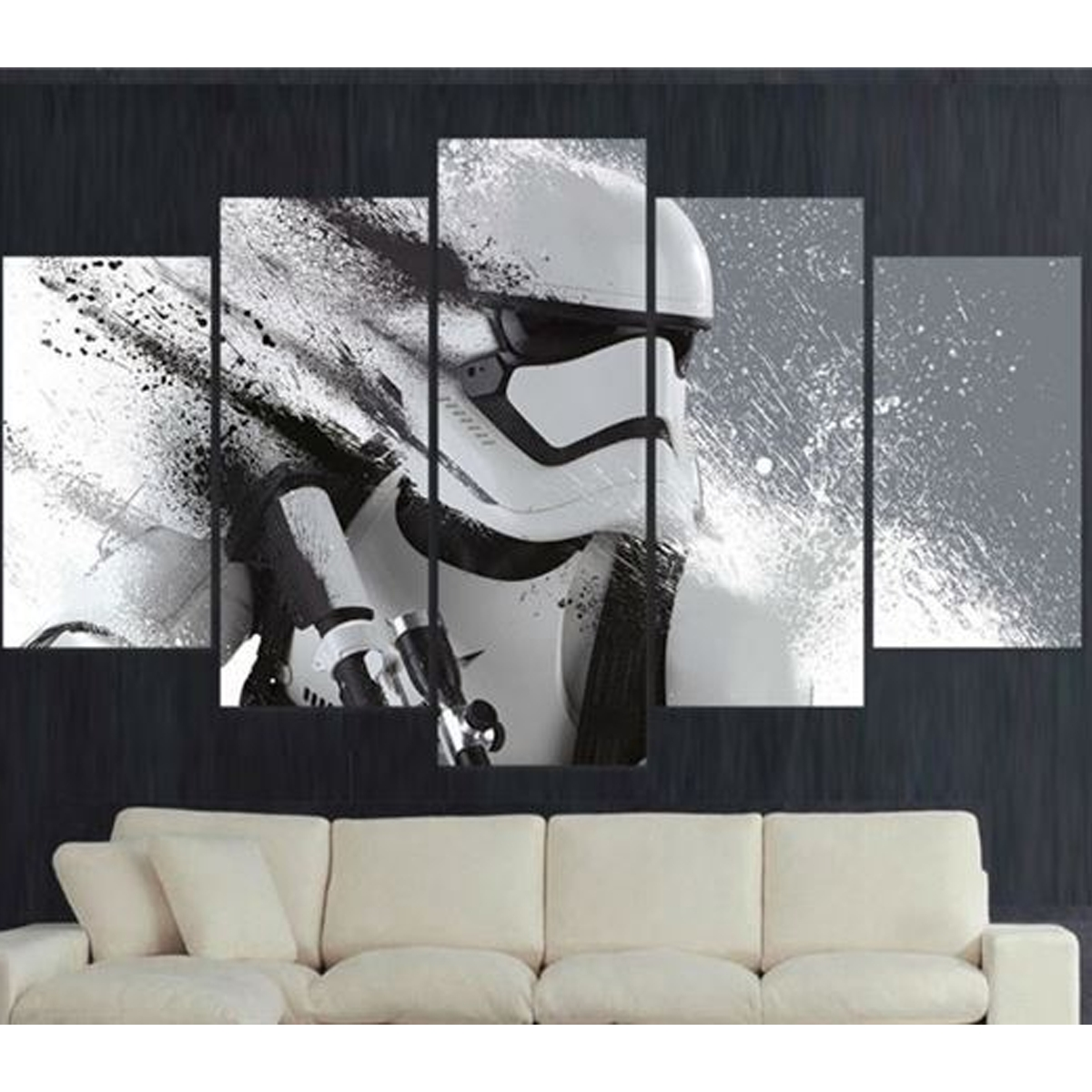 Stormtrooper 5 Piece Canvas Limited Edition Oneshopexpress Inside Most Recent Limited Edition Wall Art (View 13 of 20)
