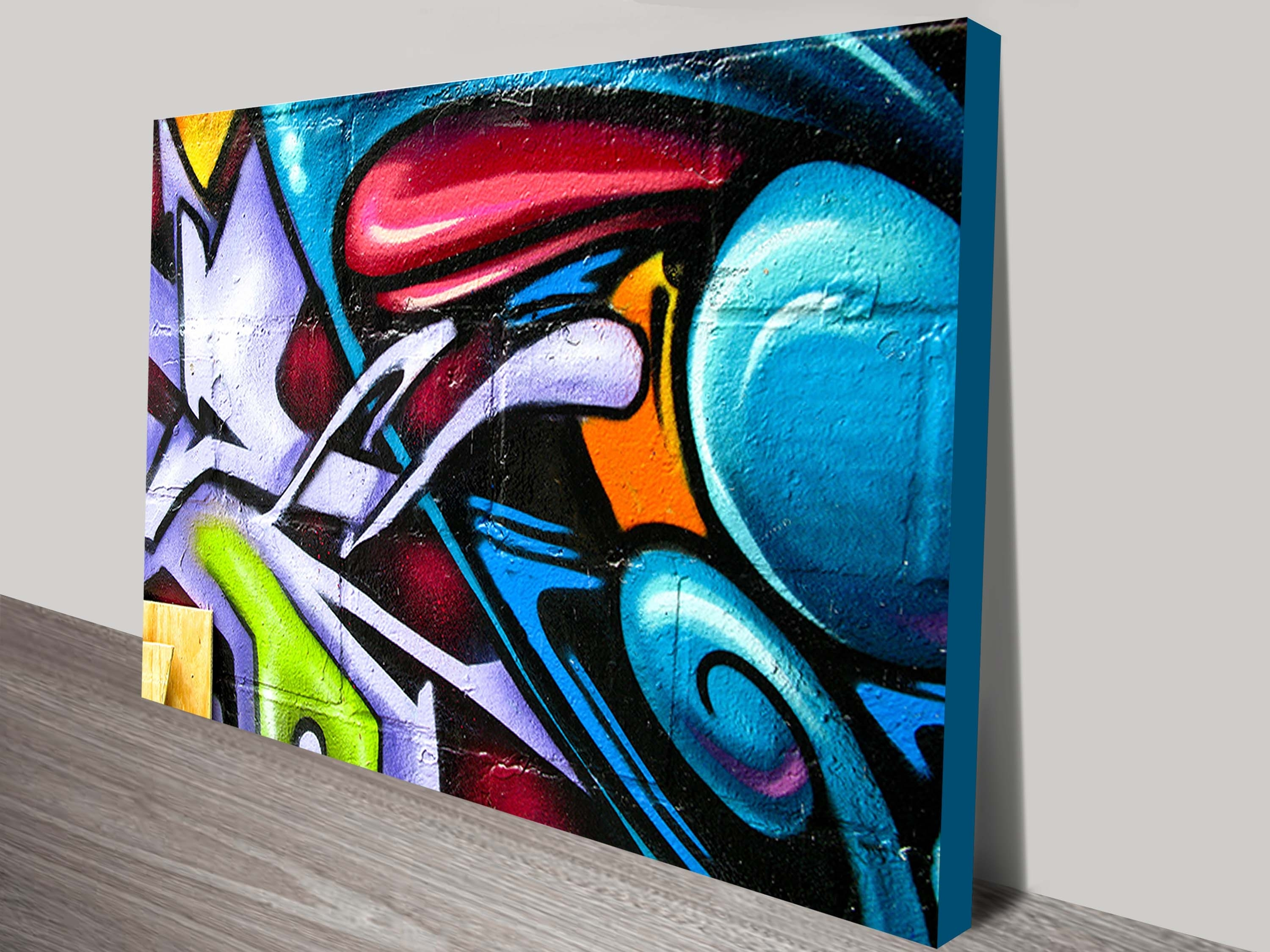 Street Art Abstract Canvas Print Intended For Current Brisbane Abstract Wall Art (View 12 of 20)