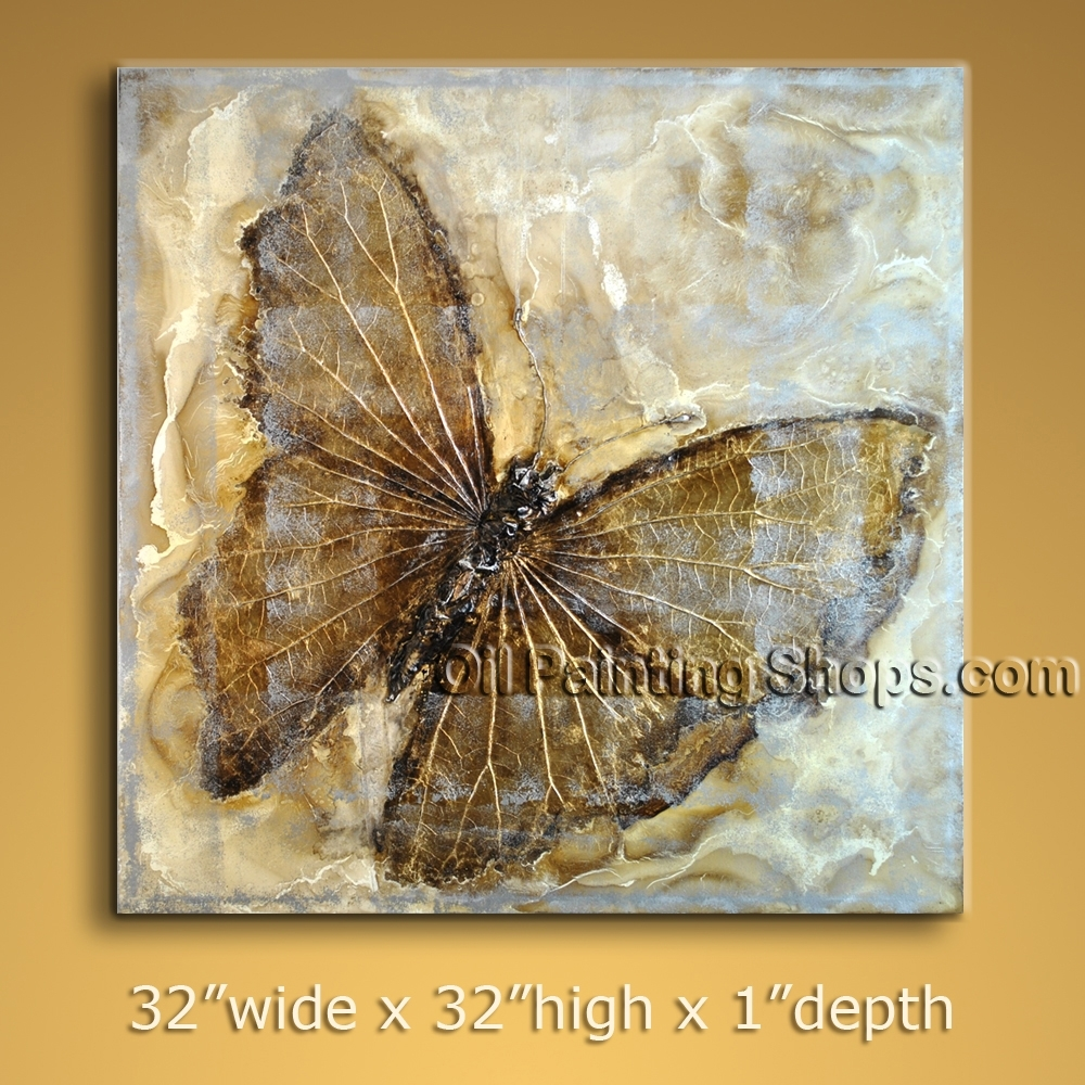 Stunning Modern Textured Painted Wall Art Hand Painted Oil Pertaining To Most Current Abstract Butterfly Wall Art (View 17 of 20)