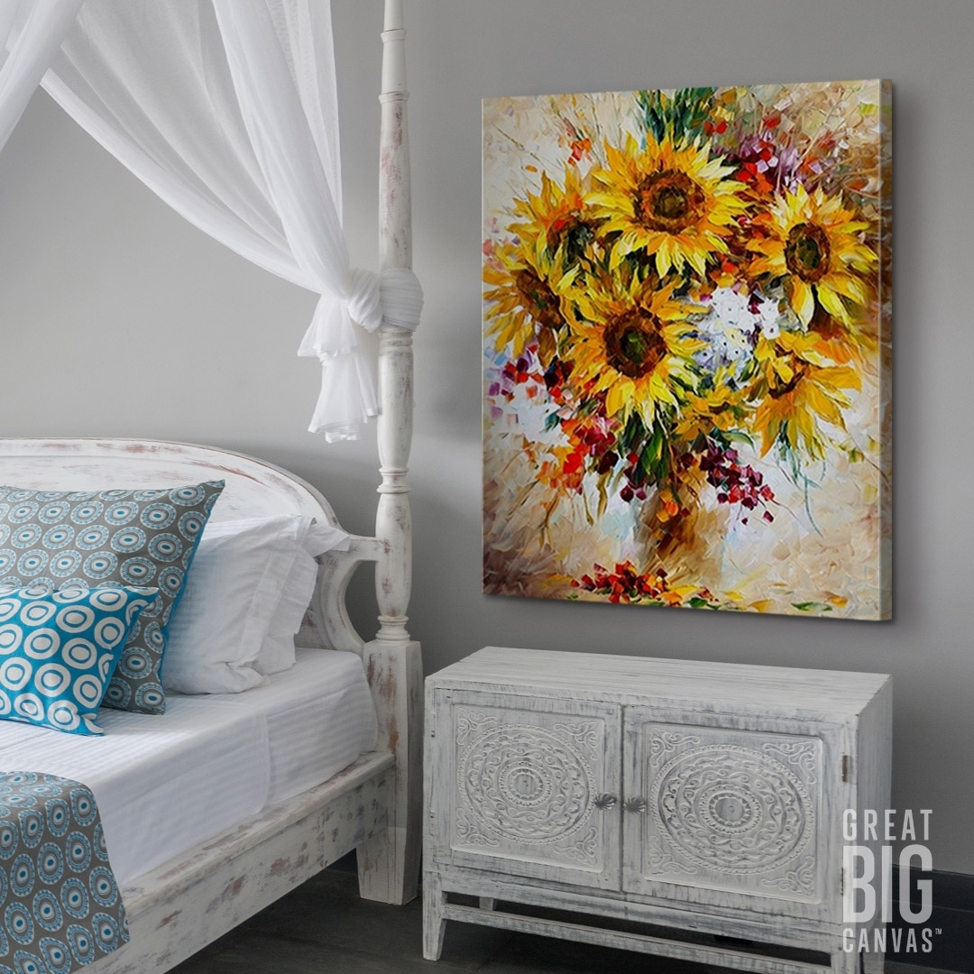 Sunflowers Of Happiness | Sunflowers, Happiness And Canvases Within Most Recently Released Happiness Abstract Wall Art (View 19 of 20)