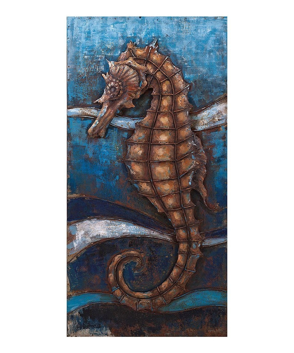 Take A Look At This Seahorse Dimensional Wall Décor Today! | ?Art Within Most Current Southern Enterprises Abstract Wall Art (View 15 of 20)