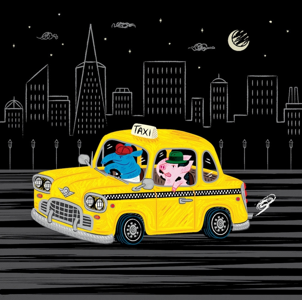 Taxi Ride – Limited Edition – Animal Illustration – Wall Art With Regard To Newest Limited Edition Wall Art (View 15 of 20)