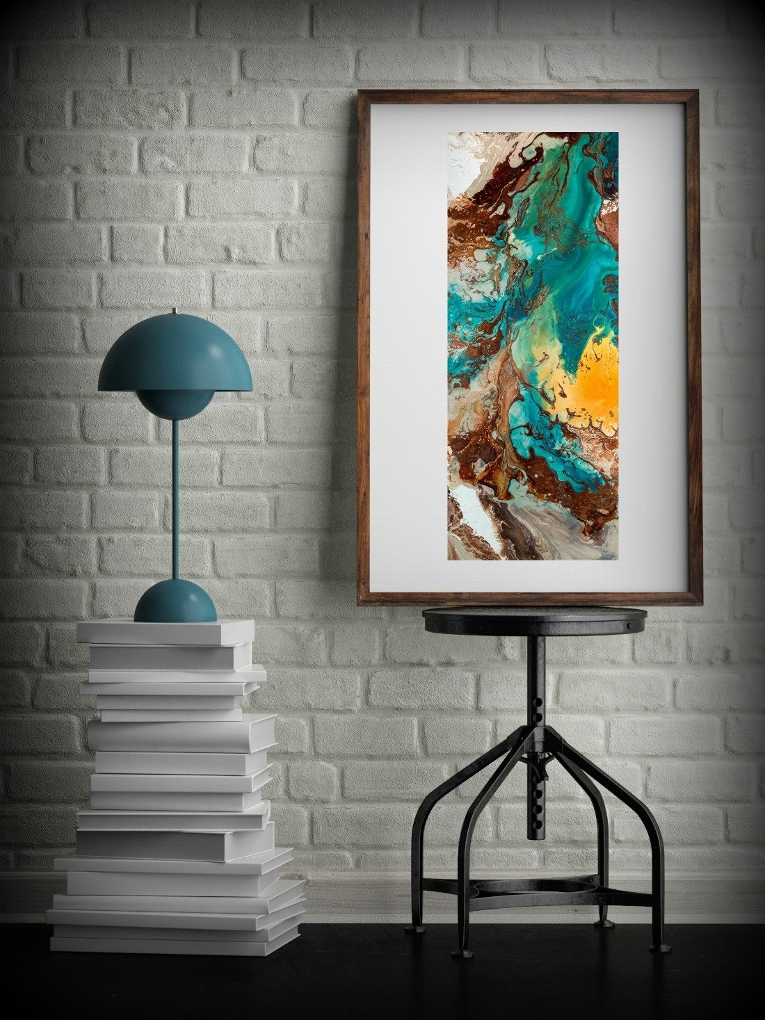 Teal Facts That Ody T You About Metal Wall Art Framesbases Office Within Newest Blue And Brown Abstract Wall Art (View 18 of 20)