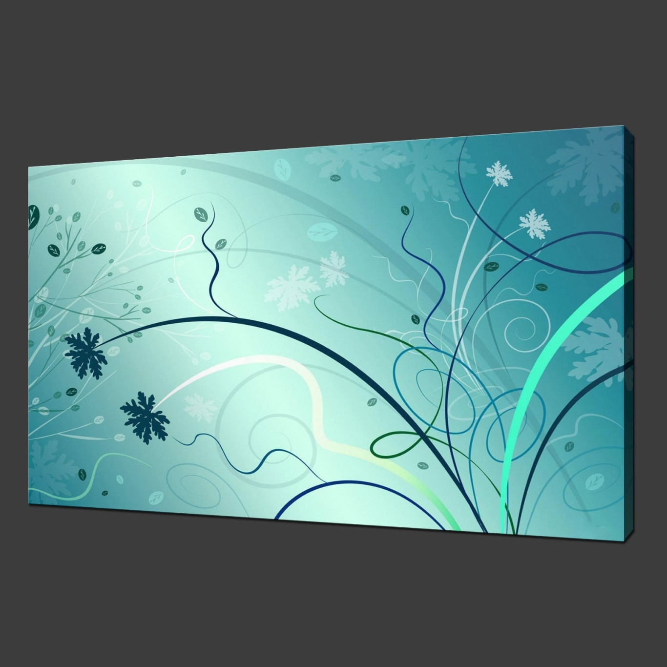 Teal Wall Art Intended For Most Popular Aqua Abstract Wall Art (View 7 of 20)