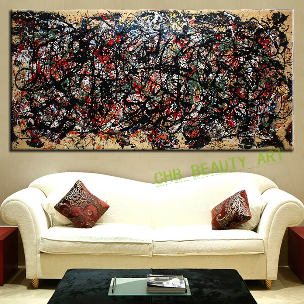 The Most Famous Large Canvas Painting Abstract Art Wall Pictures Inside Most Recent Abstract Living Room Wall Art (View 9 of 20)