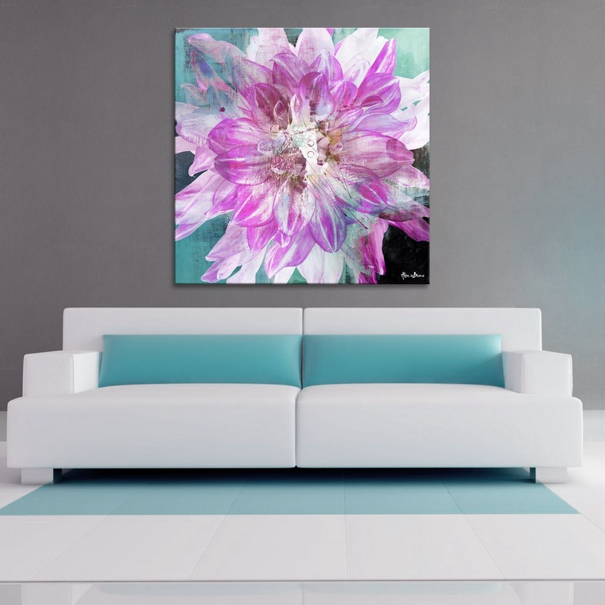 The 'painted Petals Xxx' Canvas Art Print Depicts A Bold Floral Within Most Recent Bold Abstract Wall Art (View 6 of 20)