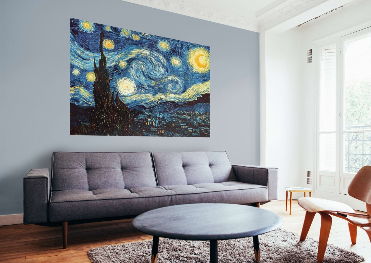 The Starry Nightvincent Van Gogh Wall Decal | Shop Fathead Pertaining To Most Popular Vincent Van Gogh Wall Art (View 19 of 20)