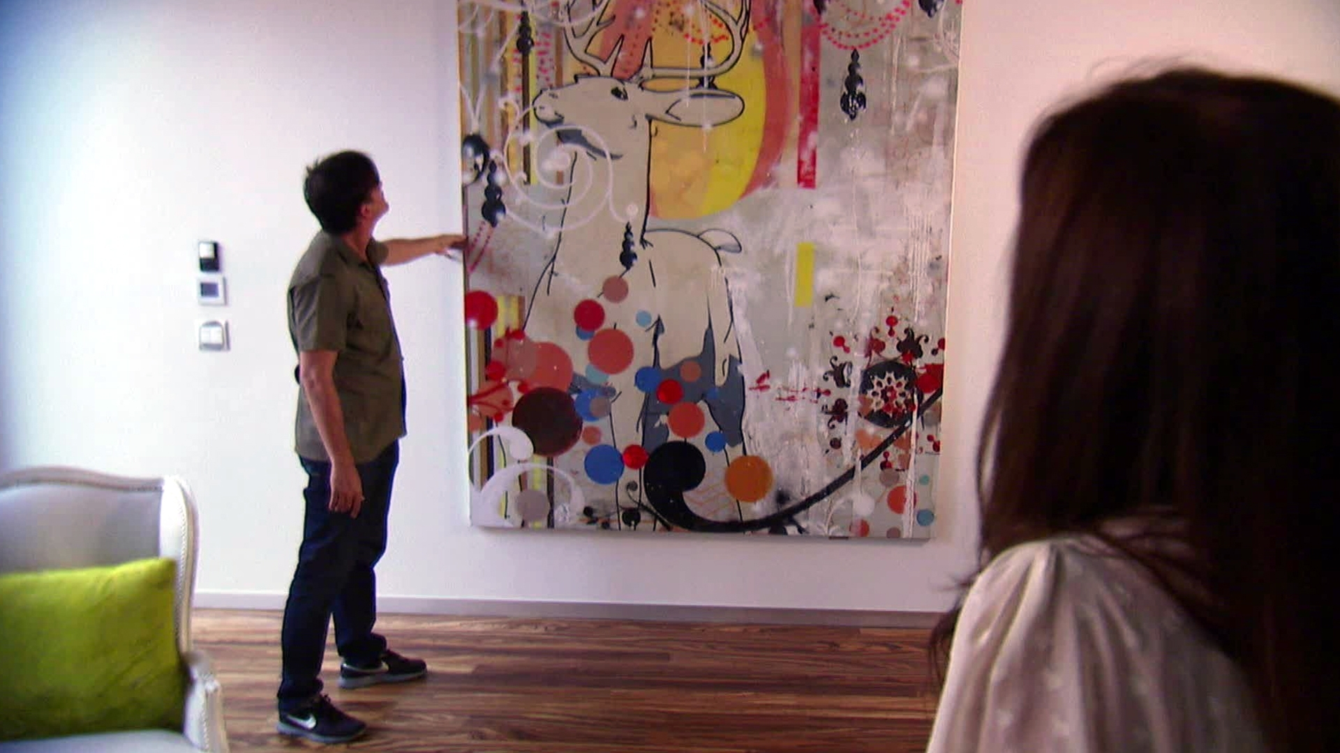 Tips On Hanging Wall Art Video | Hgtv Pertaining To 2018 Houzz Abstract Wall Art (Gallery 7 of 20)