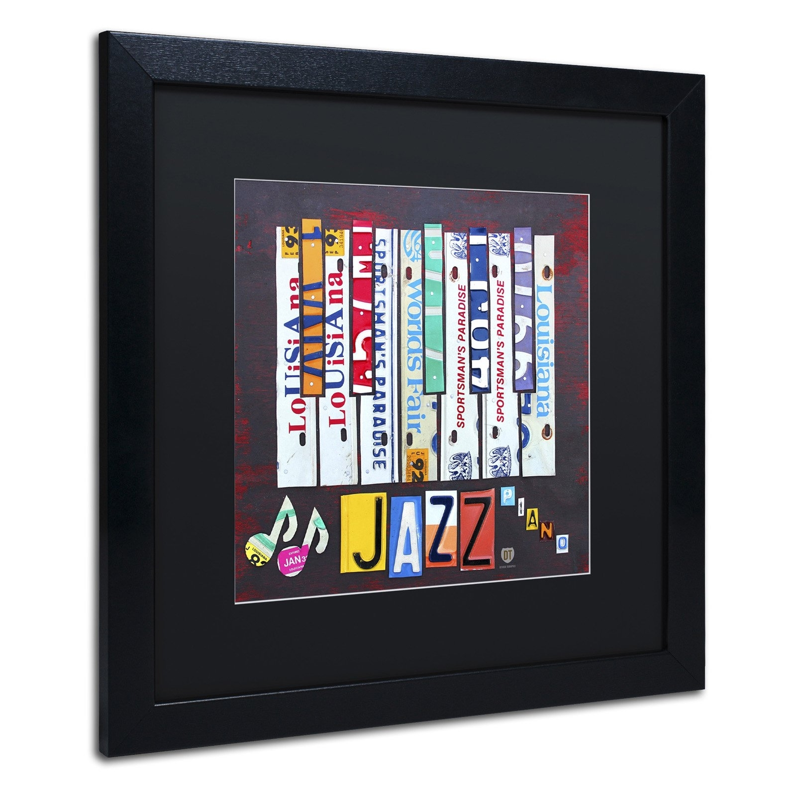 Trademark Fine Art Jazz Series Piano Framed Wall Art | Hayneedle Regarding Most Popular Abstract Musical Notes Piano Jazz Wall Artwork (View 16 of 20)