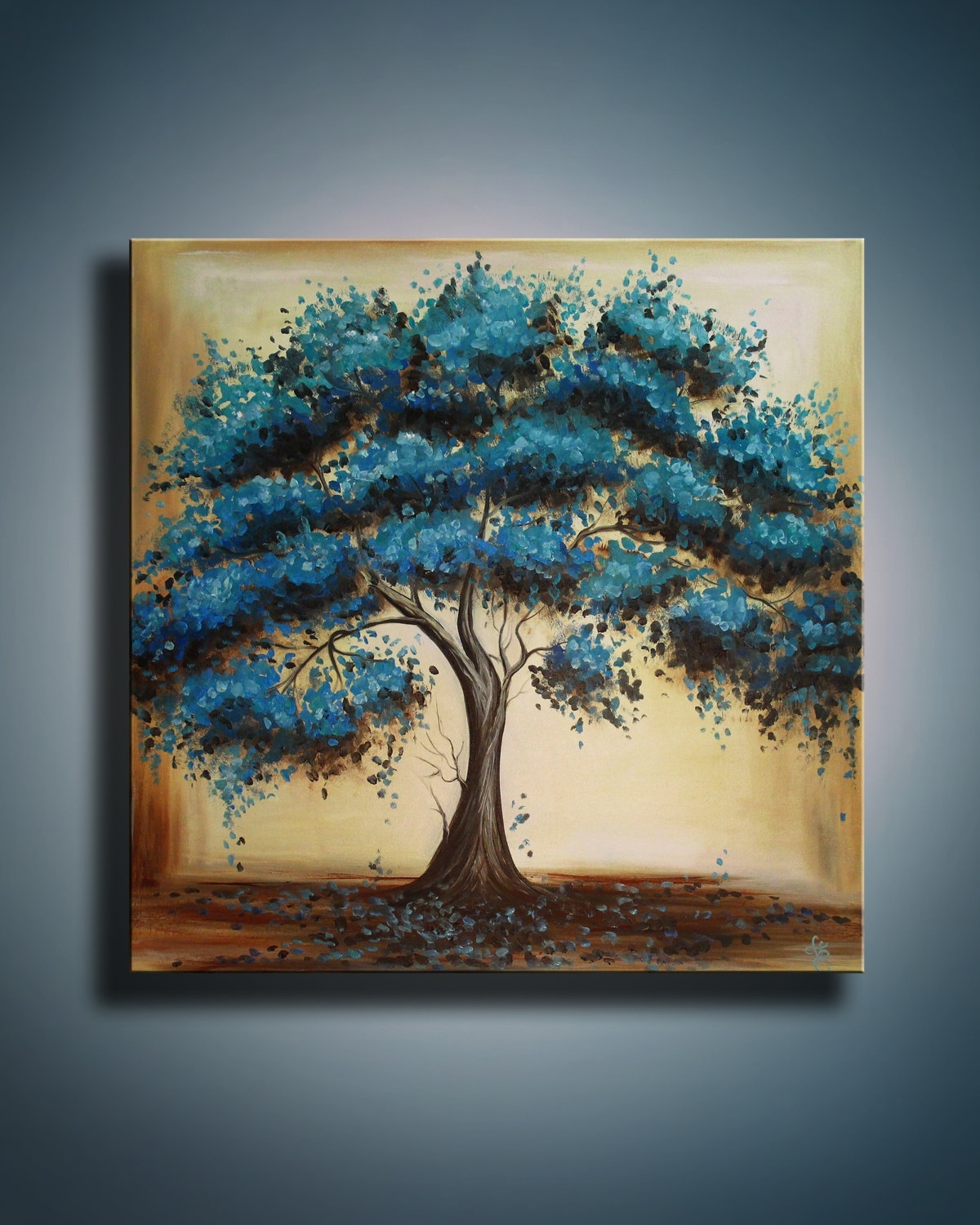 Tree Of Life Abstract Art Painting Landscape Oil Painting On Throughout Most Up To Date Modern Abstract Oil Painting Wall Art (View 17 of 20)