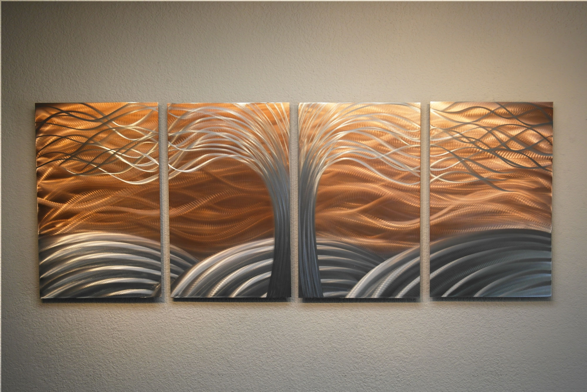 Tree Of Life Bright Copper – Metal Wall Art Abstract Sculpture Throughout 2017 Bright Abstract Wall Art (View 19 of 20)