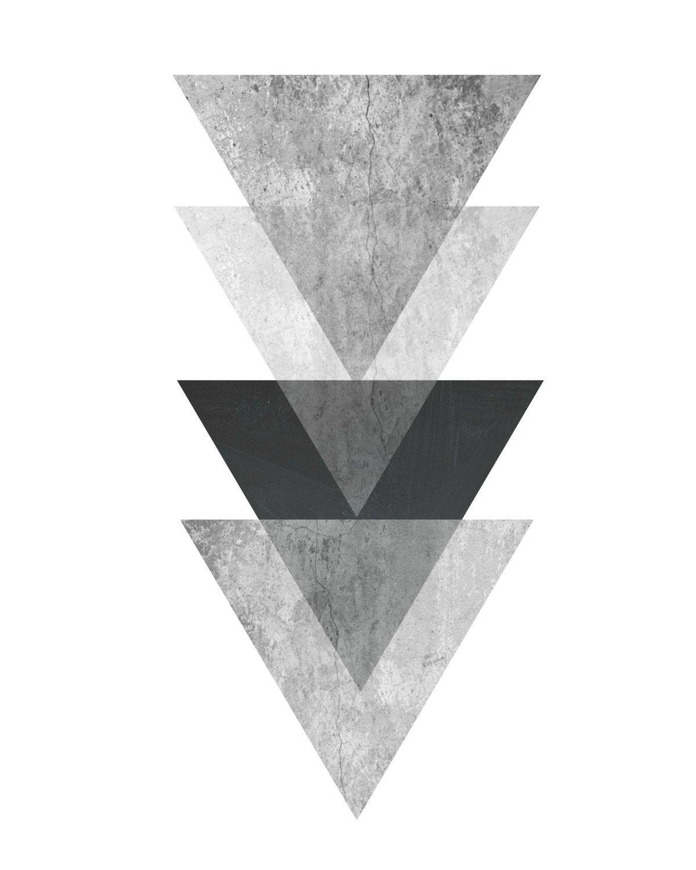Triangle Print, Printable Art, Geometric Art Print, Scandinavian With Regard To 2018 Printable Abstract Wall Art (View 19 of 20)