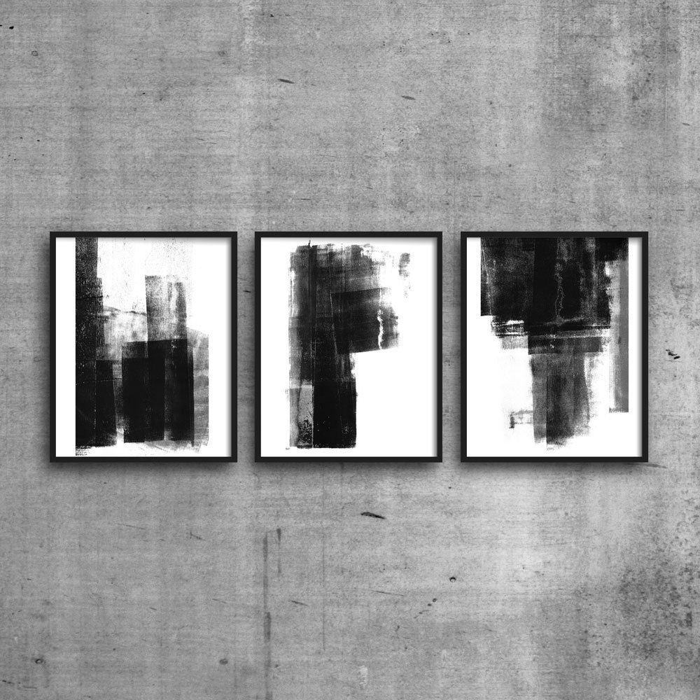 Triptych, Scandinavian Art, Abstract Print Set, Abstract Art Intended For Best And Newest Neutral Abstract Wall Art (View 11 of 20)