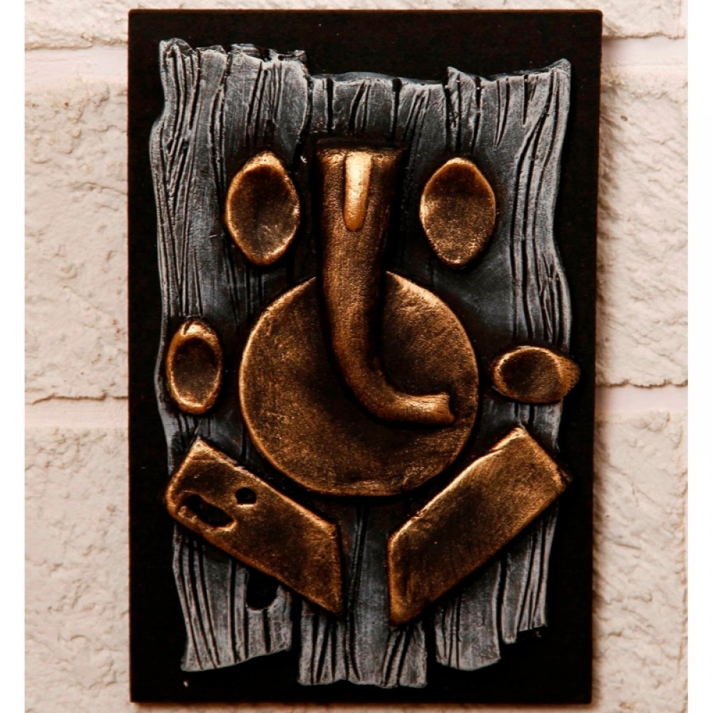 Unravel India Terracotta Abstract Ganesha Wall Decor With Newest Abstract Ganesha Wall Art (View 11 of 20)