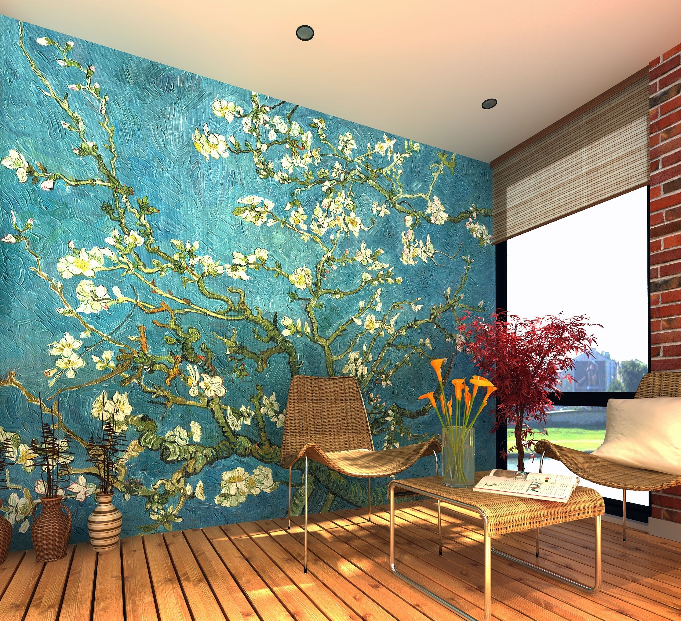 Van Gogh – Almond Blossom – Wall Mural, Wallpaper, Photowall, Home Regarding Most Up To Date Almond Blossoms Vincent Van Gogh Wall Art (View 17 of 20)