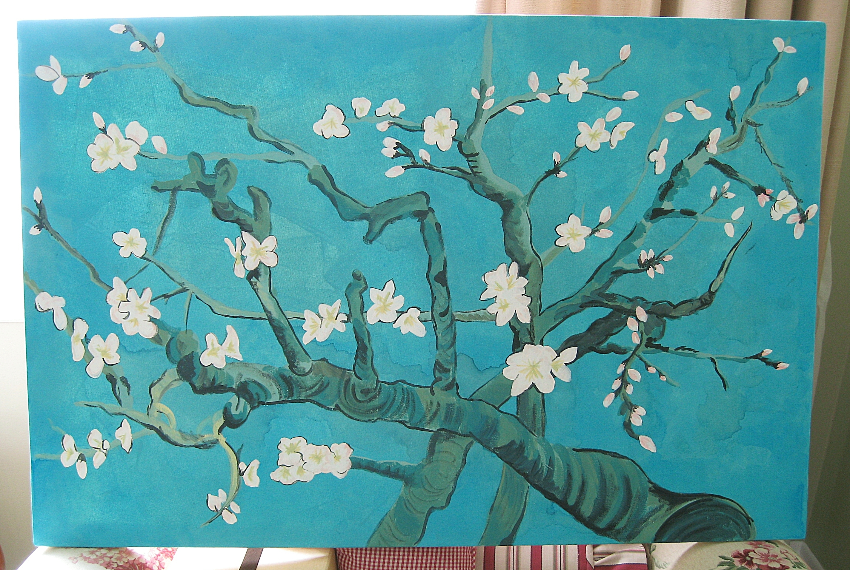 Van Gogh Inspired Wall Art | Jen Spends Less Regarding Latest Almond Blossoms Vincent Van Gogh Wall Art (View 1 of 20)