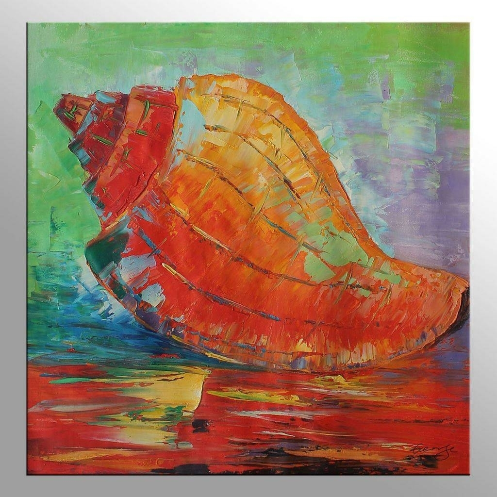 View Gallery Of Oil Painting Wall Art On Canvas (Showing 16 Of 20 Intended For Best And Newest Abstract Fish Wall Art (View 16 of 20)