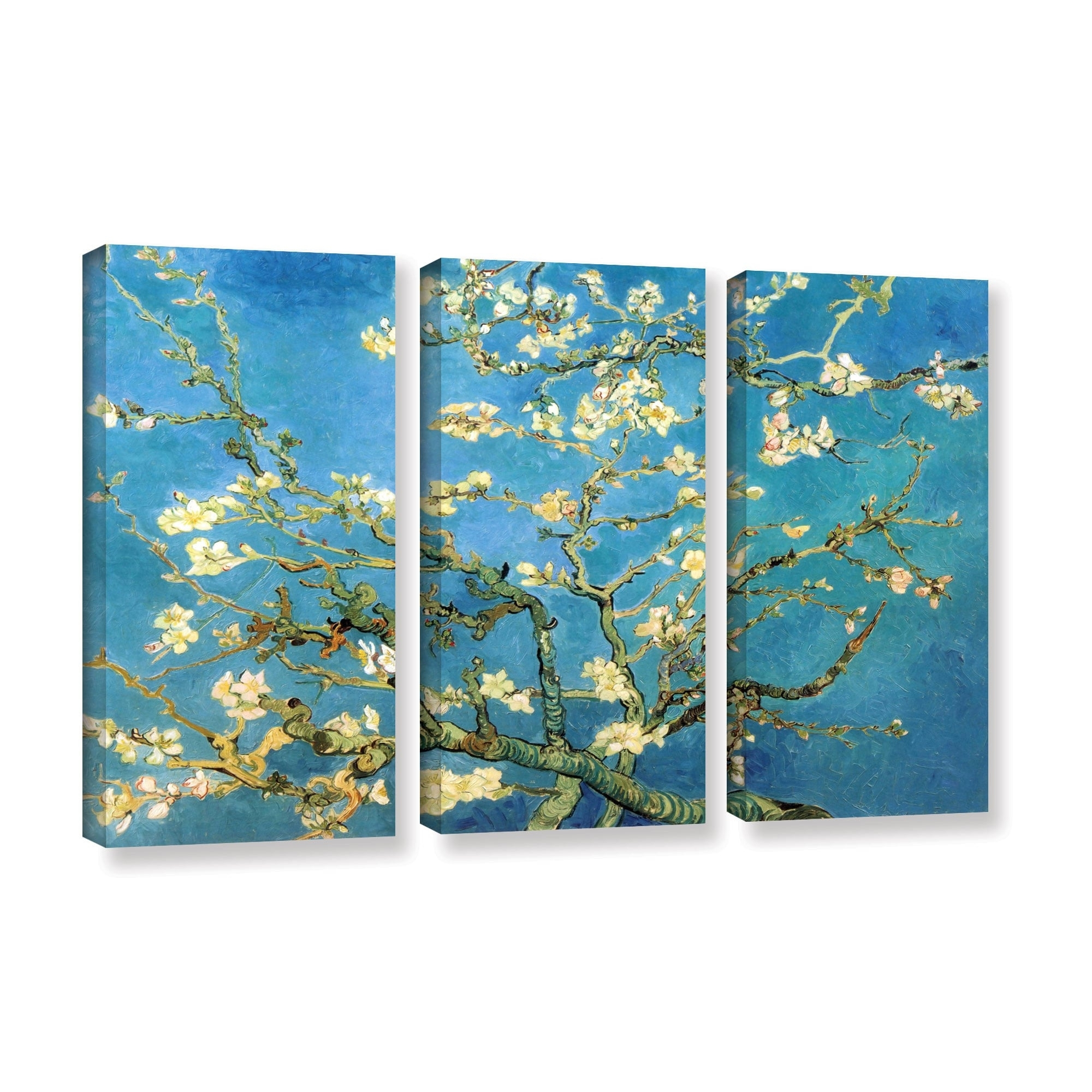 Vincent Van Gogh '3 Piece Almond Blossom' Gallery Wrapped Canvas For 2017 Vincent Van Gogh Multi Piece Wall Art (View 17 of 20)