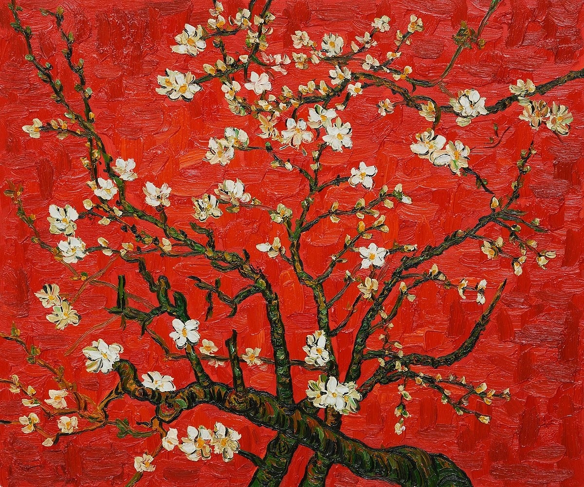 Vincent Van Gogh, Branches Of An Almond Tree In Blossom (Artist For Best And Newest Almond Blossoms Vincent Van Gogh Wall Art (View 18 of 20)