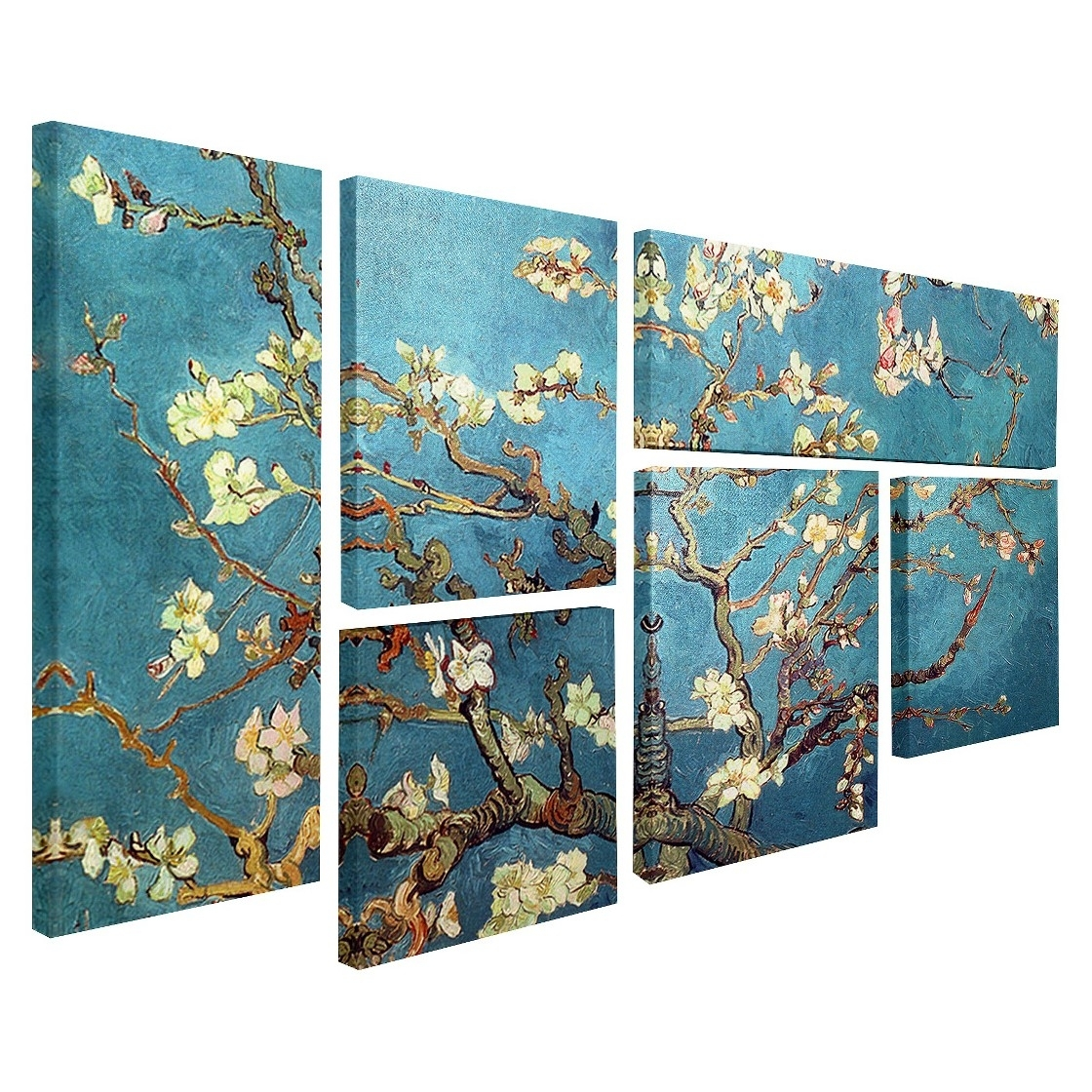 Vincent Van Gogh Multi Piece Wall Art – 'almond Blossoms', | Van Regarding 2017 Almond Blossoms Vincent Van Gogh Wall Art (View 4 of 20)