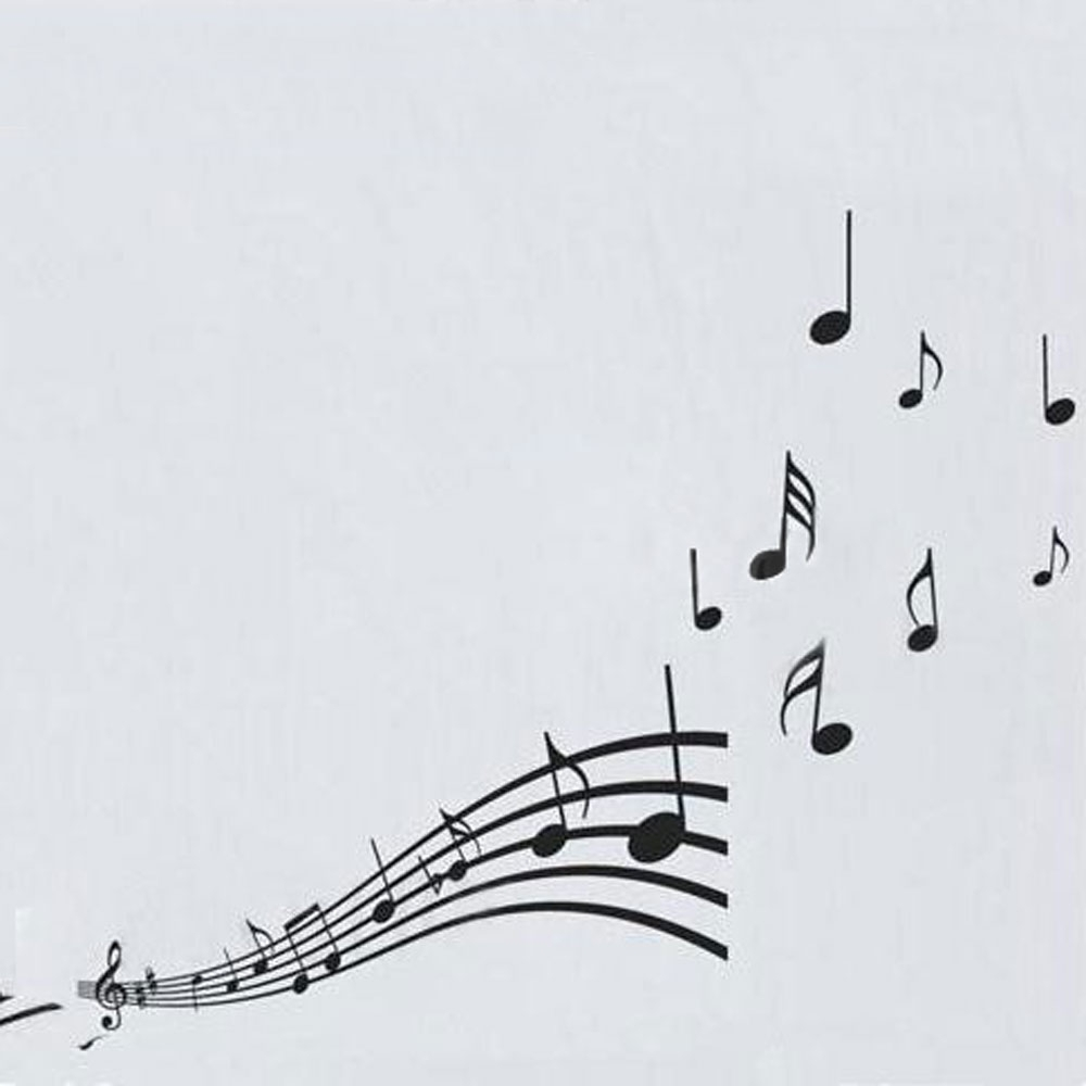 Vinyl Musical Notes Pattern Graffiti Wall Home Decor Mural Decal In Recent Abstract Musical Notes Piano Jazz Wall Artwork (View 16 of 20)