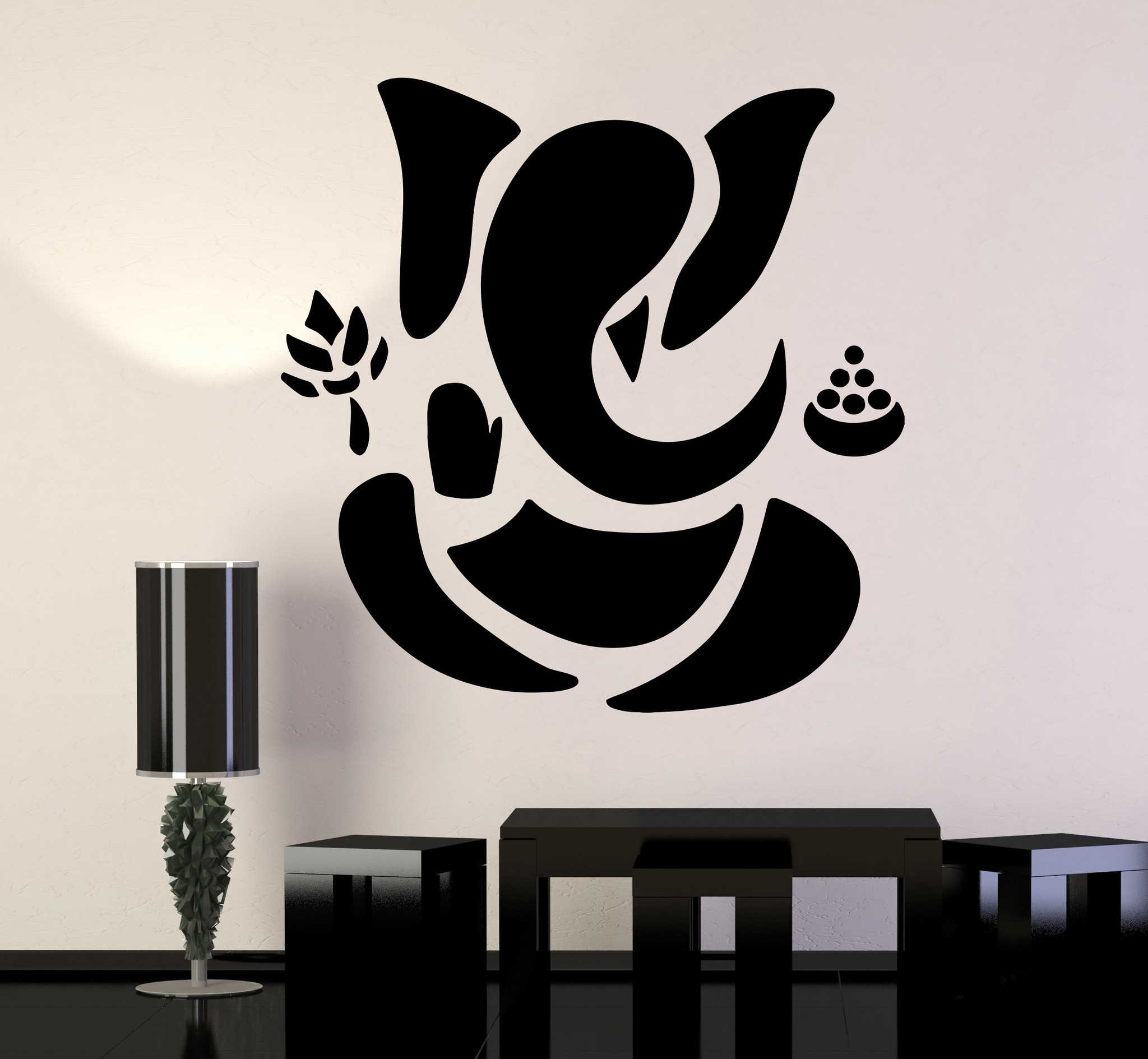 Vinyl Wall Decal Abstract Ganesha Hindu Hinduism Vedas God Inside Best And Newest Abstract Art Wall Decal (Gallery 3 of 20)