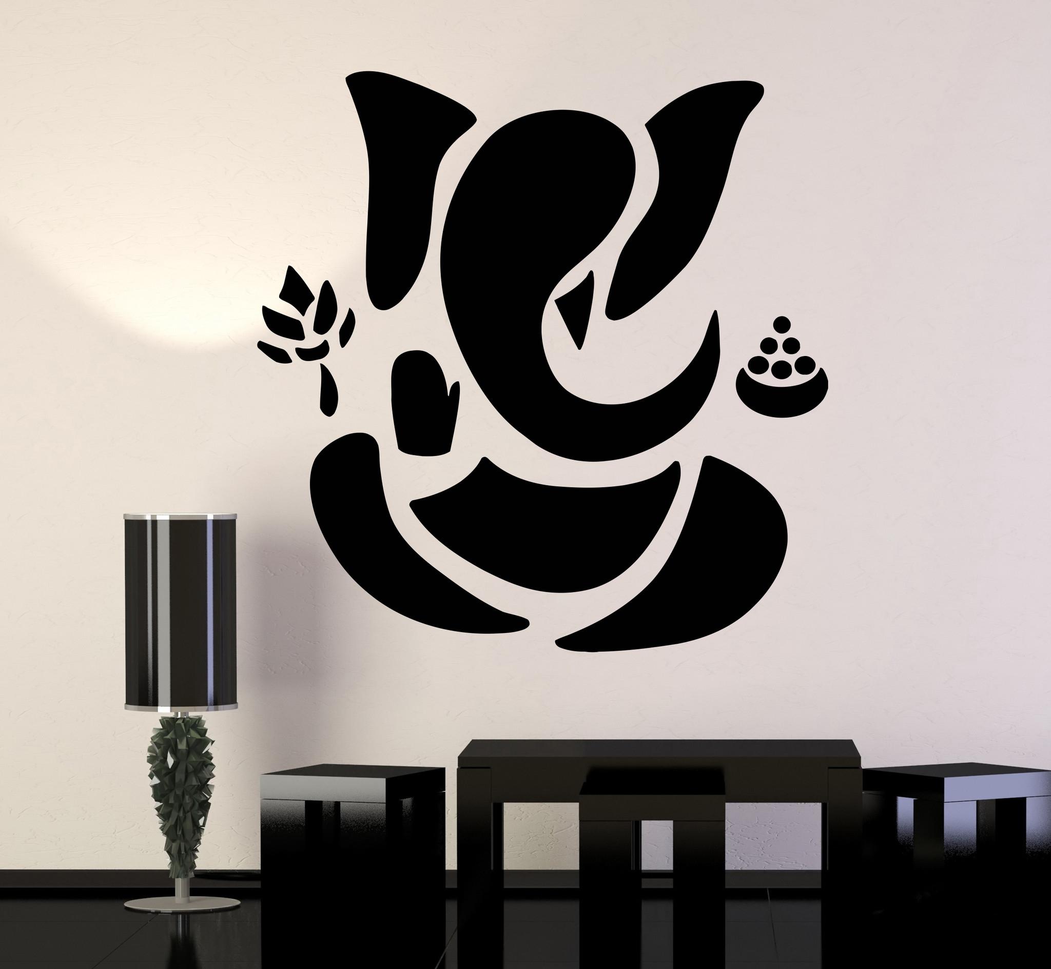 Vinyl Wall Decal Abstract Ganesha Hindu Hinduism Vedas God Pertaining To Recent Abstract Ganesha Wall Art (View 17 of 20)