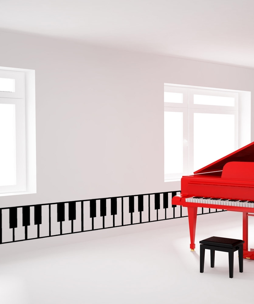 Vinyl Wall Decal Sticker Piano Keys #os_Mb887 | Piano Keys, Wall intended for Most Current Abstract Piano Wall Art