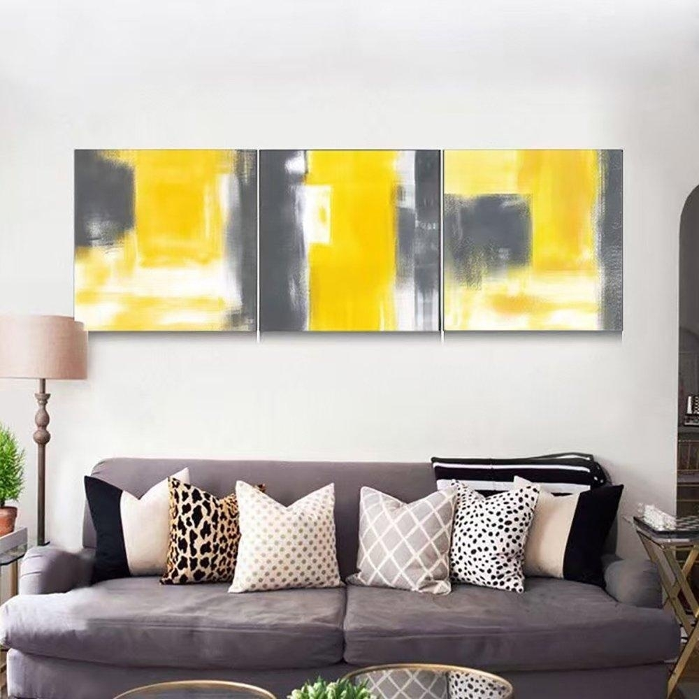 Vv Art Chinese Style Abstract Contemporary Painting Canvas Modern Inside Recent Abstract Living Room Wall Art (View 6 of 20)