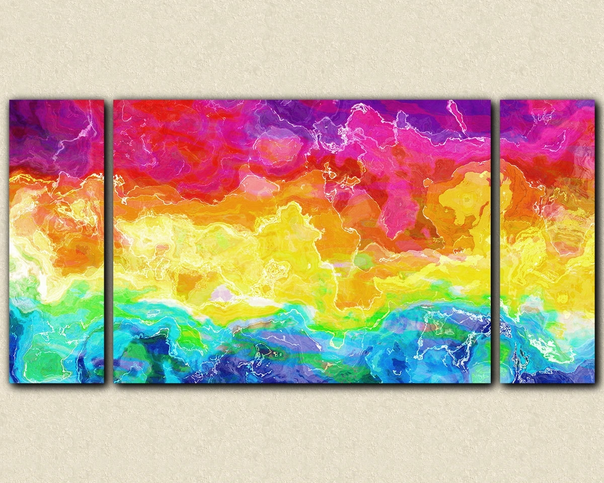 Wall Art: Best Sample Ideas Bright Wall Art Bright Colored Artwork For Most Up To Date Bold Abstract Wall Art (View 13 of 20)