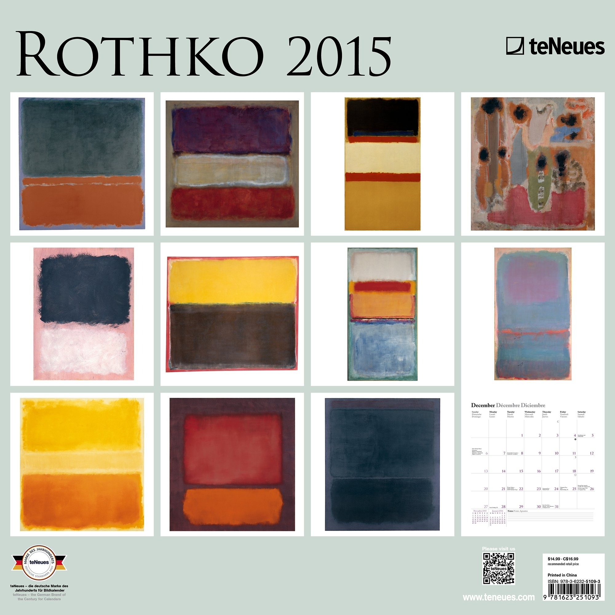 Wall Art Decor: Rothko Products Art Wall Calendar New Release Within 2018 Abstract Calendar Art Wall (View 3 of 20)