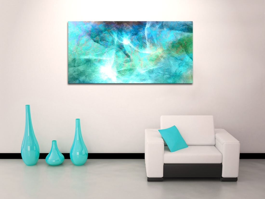 Wall Art Design: Abstract Canvas Wall Art Rectangle Green Regarding Current Horizontal Abstract Wall Art (View 5 of 20)