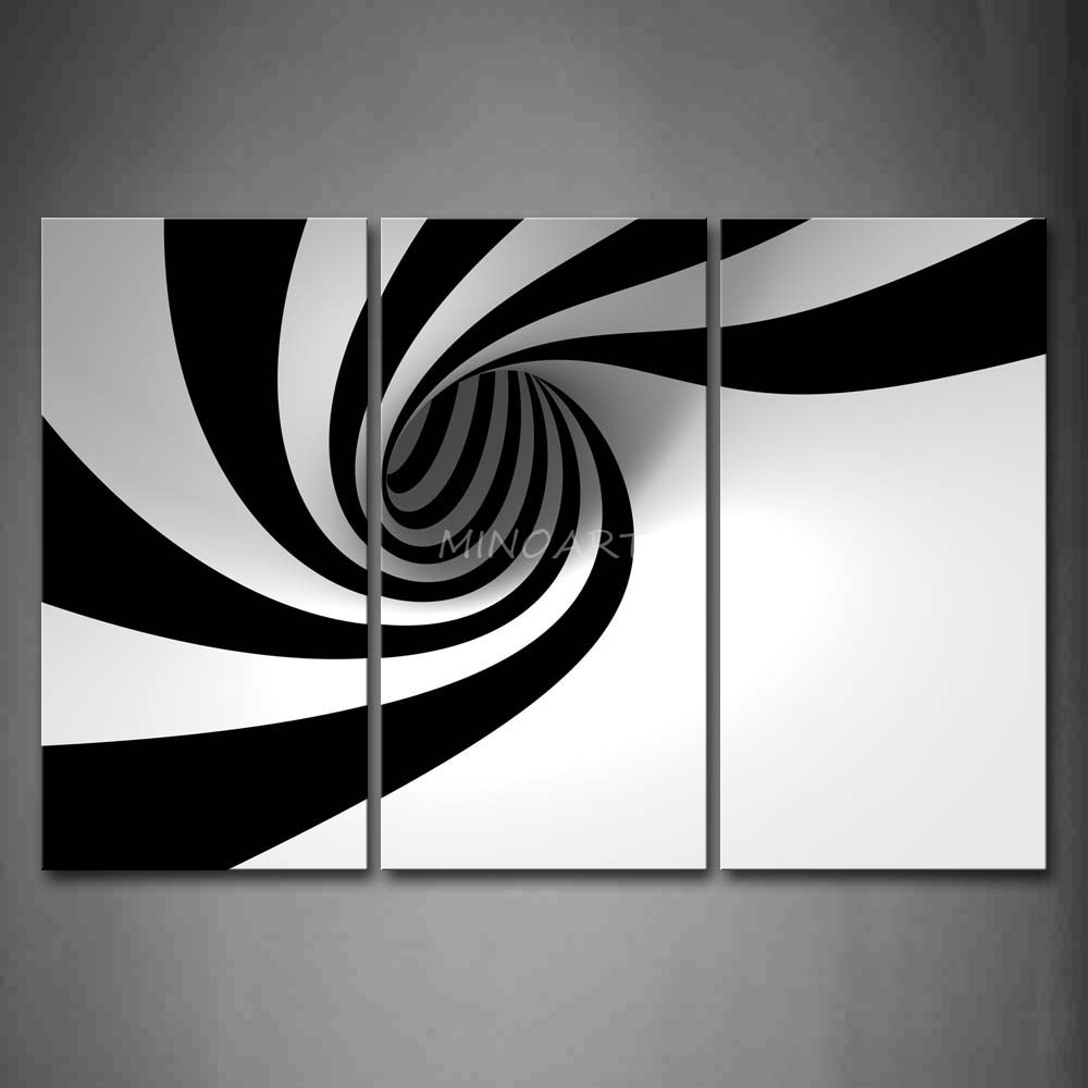Wall Art Design: Black And White Abstract Wall Art Rectangle Black Within Most Current Gray Abstract Wall Art (View 13 of 20)