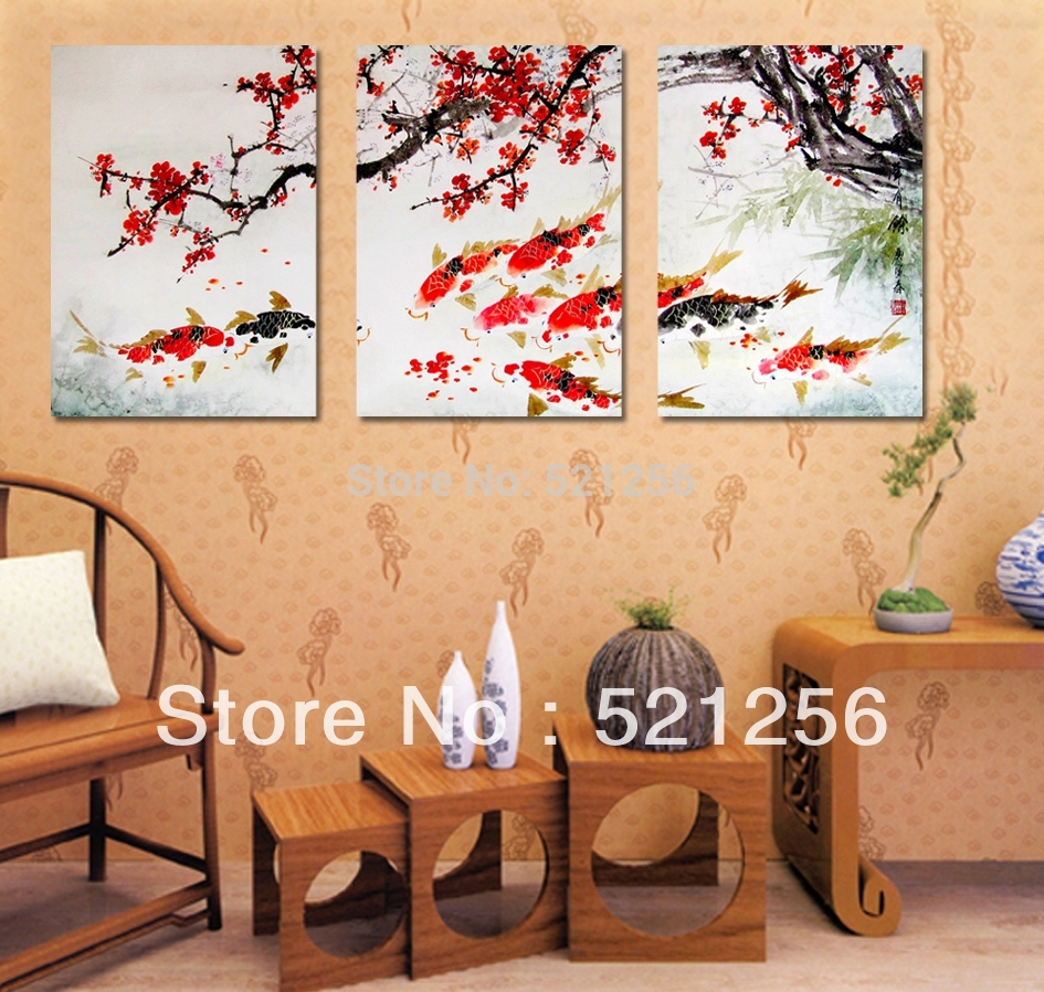 Wall Art Design Ideas: Abstract Mixed Koi Wall Art Combination Within Current Abstract Fish Wall Art (View 18 of 20)