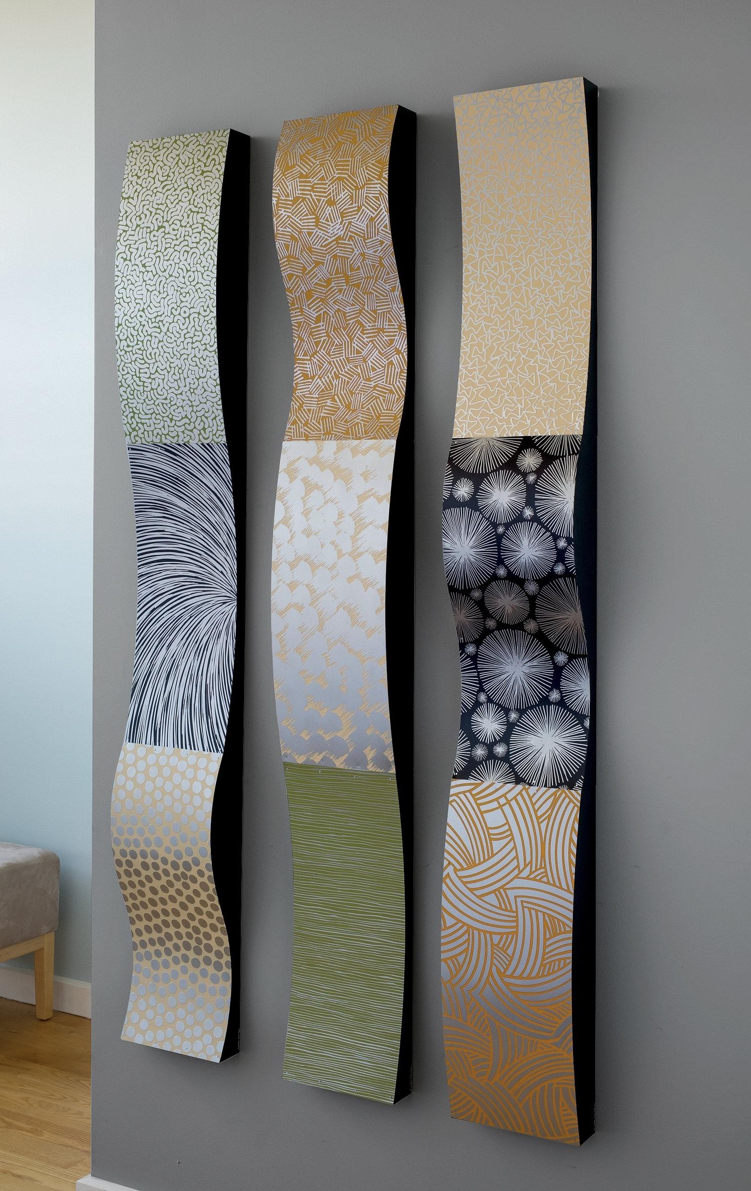 Wall Art Design Ideas: Stainless Ribbons Sculpture Wall Art Inside 2017 Abstract Kitchen Wall Art (View 15 of 20)