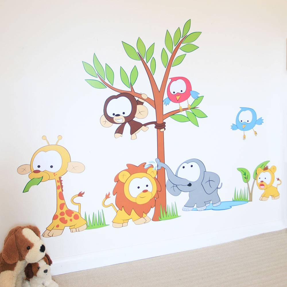Wall Art Design Ideas: Vinylimpression Wall Art Stickers For Baby Intended For Most Recent Jungle animal Wall Art (View 14 of 20)