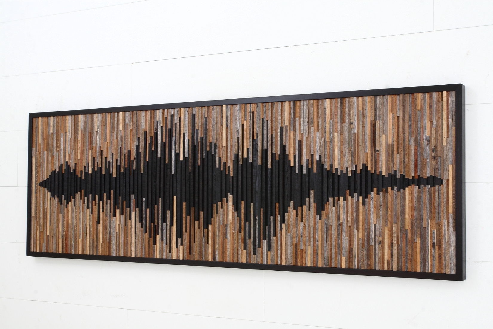 Wall Art Design Ideas: Wave Sound Abstract Wood Wall Art Within Latest Abstract Outdoor Wall Art (View 17 of 20)