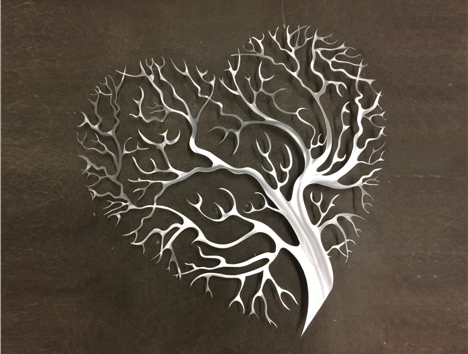 Wall Art Design: Iron Wall Art Decor Tree Heart Metal Wall Art With Regard To Recent Abstract Leaf Metal Wall Art (View 8 of 20)