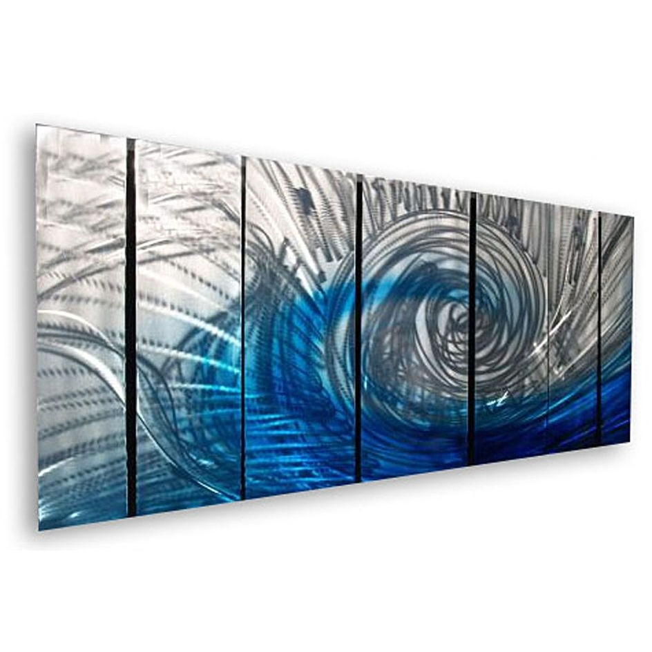 Wall Art Designs: Abstract Wall Art Waveash Carl 7 Piece Pertaining To Most Popular Blue Abstract Wall Art (View 19 of 20)