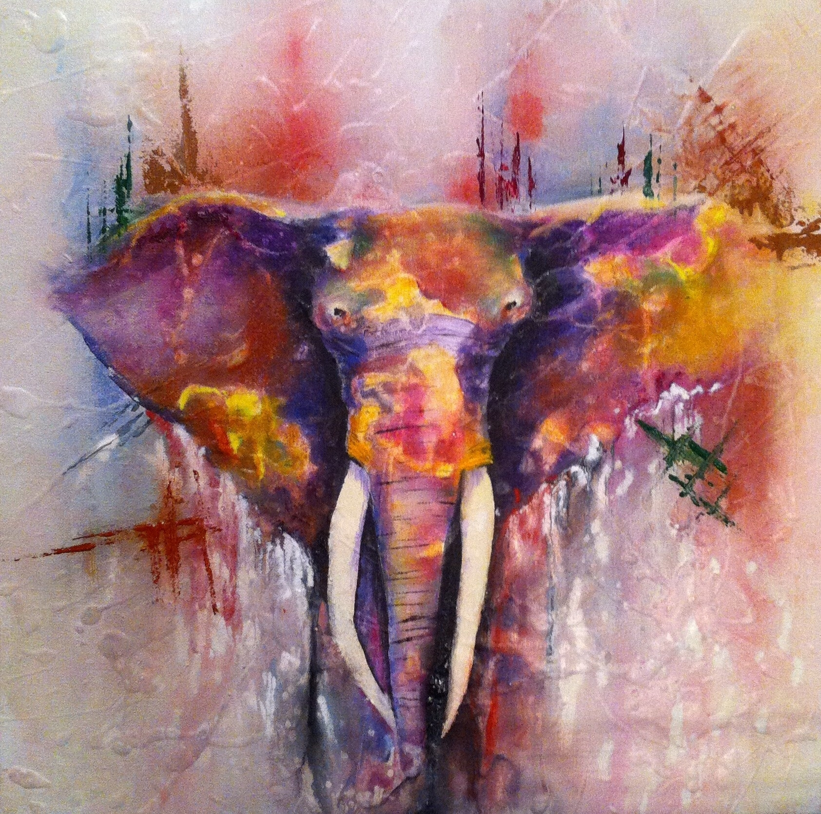Wall Art Designs: Elephant Canvas Wall Art Abstract Elephant With Most Popular Abstract Elephant Wall Art (View 20 of 20)