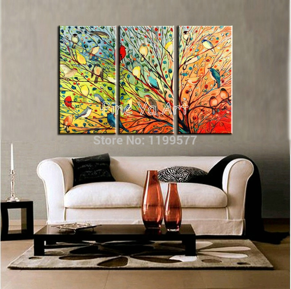 Wall Art Designs: Three Piece Wall Art 3 Piece Abstract Modern Within 2018 Abstract Canvas Wall Art Iii (Gallery 5 of 20)