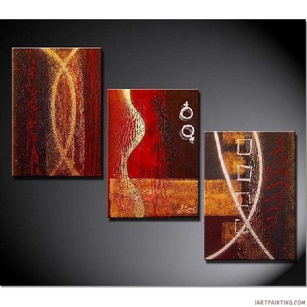 Wall Art Designs: Three Piece Wall Art Incredible Living Room Regarding Most Recent Acrylic Abstract Wall Art (View 13 of 20)