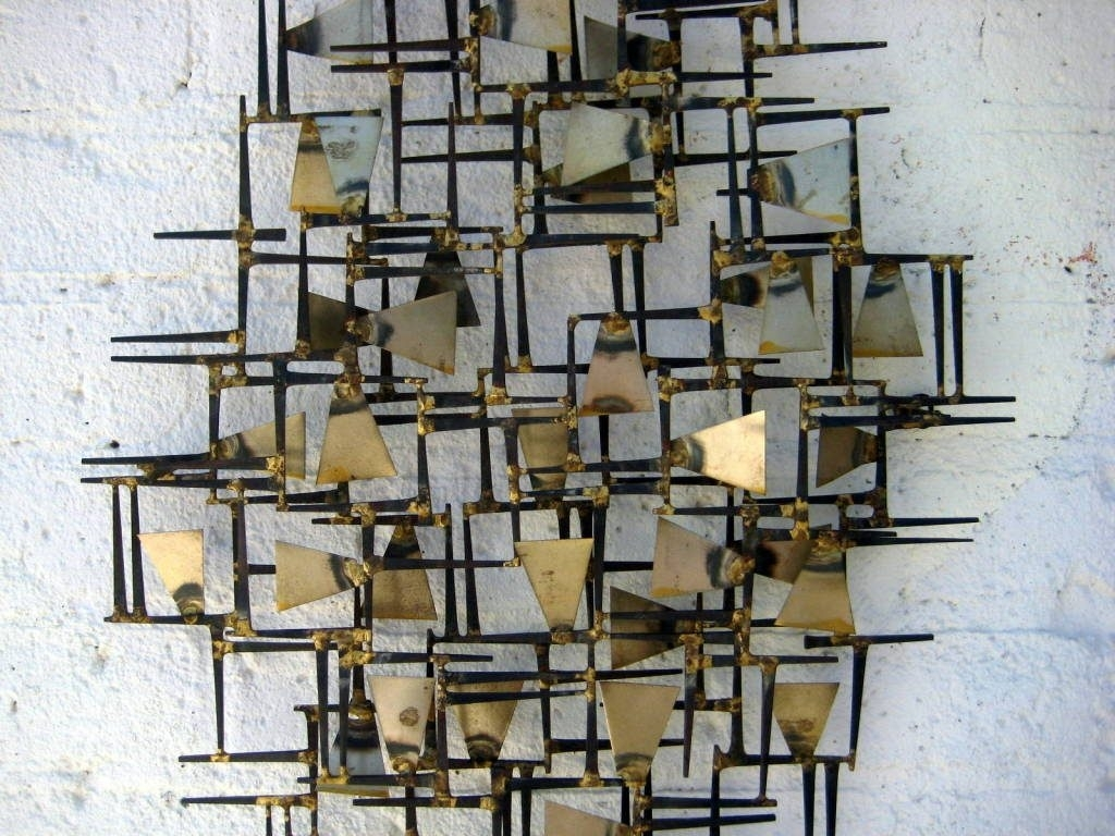 Wall Art Designs: Wall Metal Art A Vintage 1960s Hand Wrought With Most Popular Abstract Metal Sculpture Wall Art (View 10 of 20)