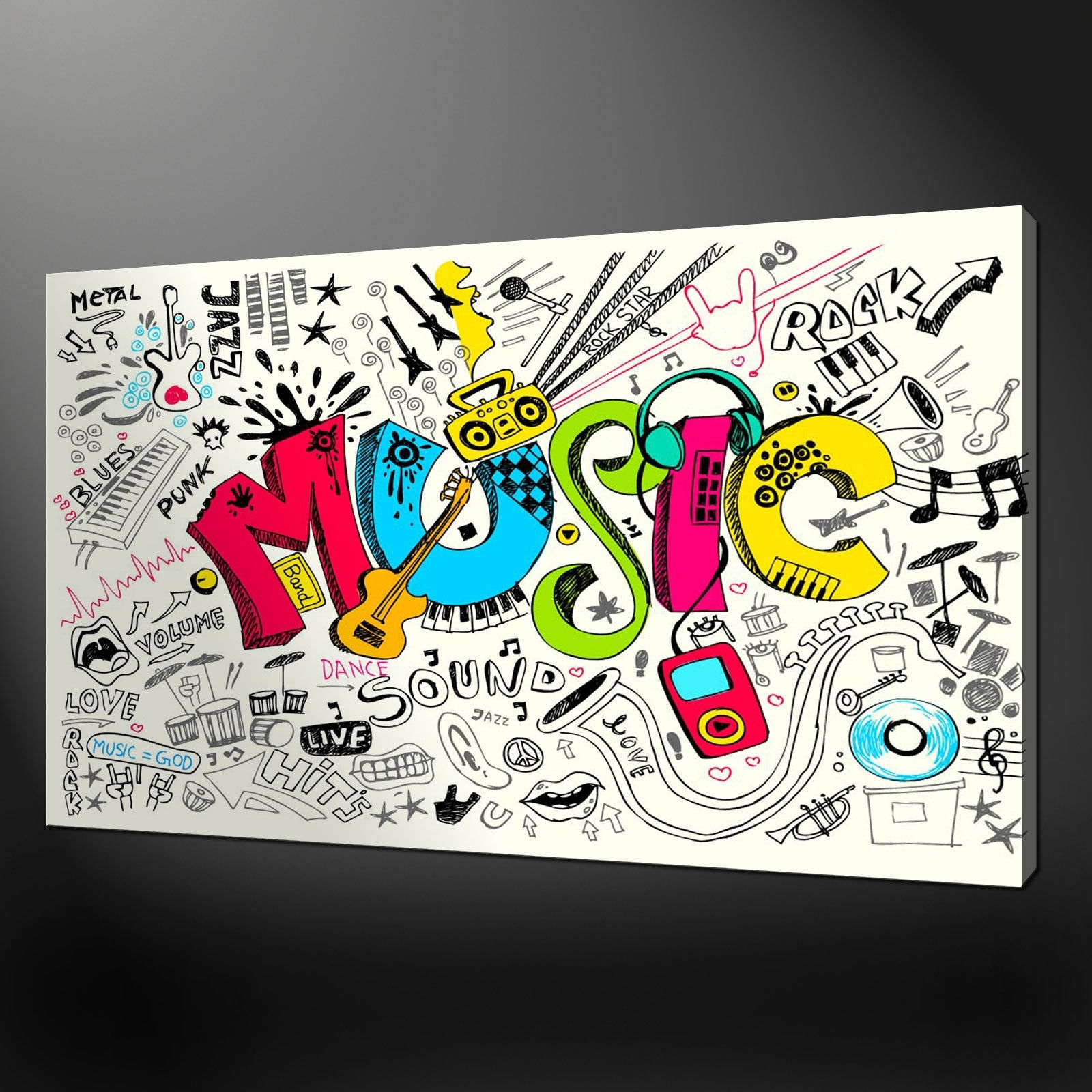 Wall Art: Lastest Pictures Music Canvas Wall Art Music Art For Throughout Most Up To Date Abstract Musical Notes Piano Jazz Wall Artwork (View 7 of 20)