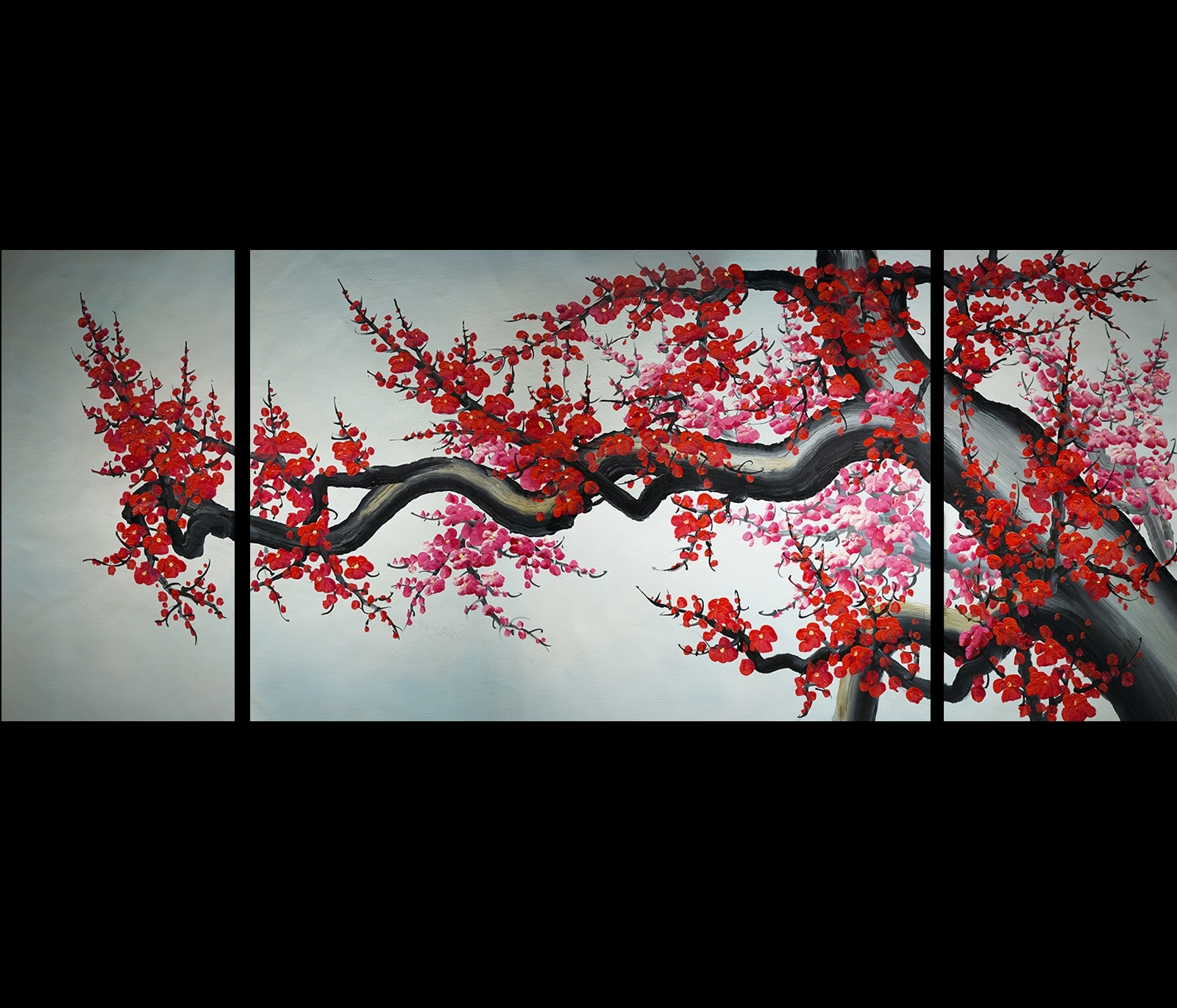 Wall Art Modern Abstract Painting Framed Cherry Blossom Pertaining To Newest Abstract Cherry Blossom Wall Art (View 5 of 20)