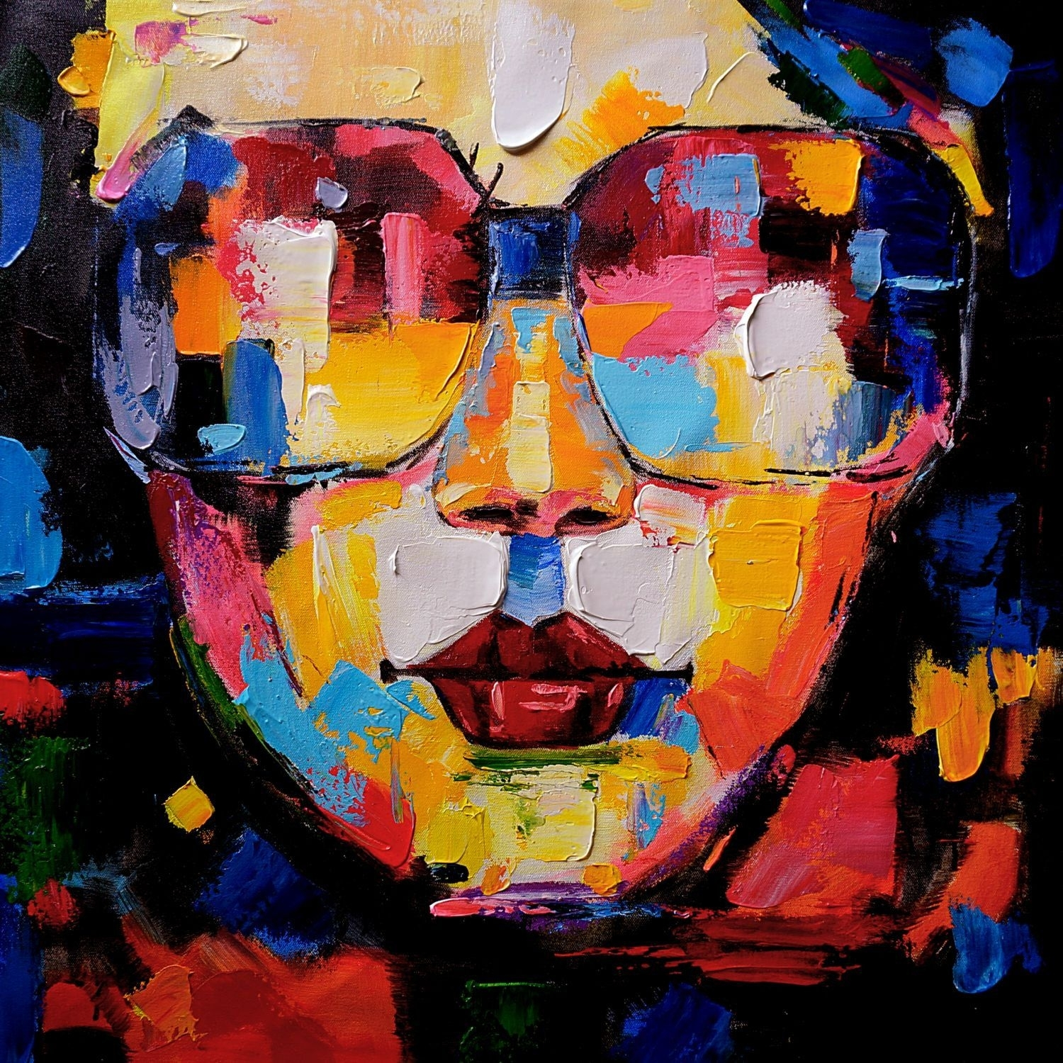 Wall Art Women Face Abstract Painting, Handmade Oil Painting On Inside Newest Abstract Body Wall Art (Gallery 11 of 20)