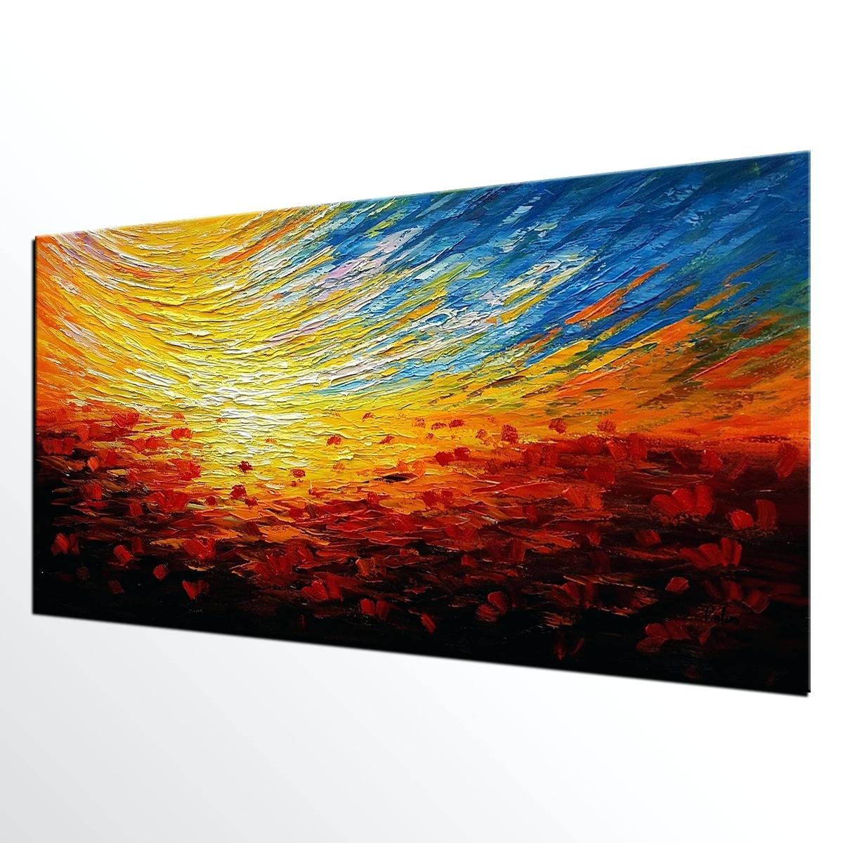 Wall Arts: Abstract Canvas Wall Art (View 20 of 20)