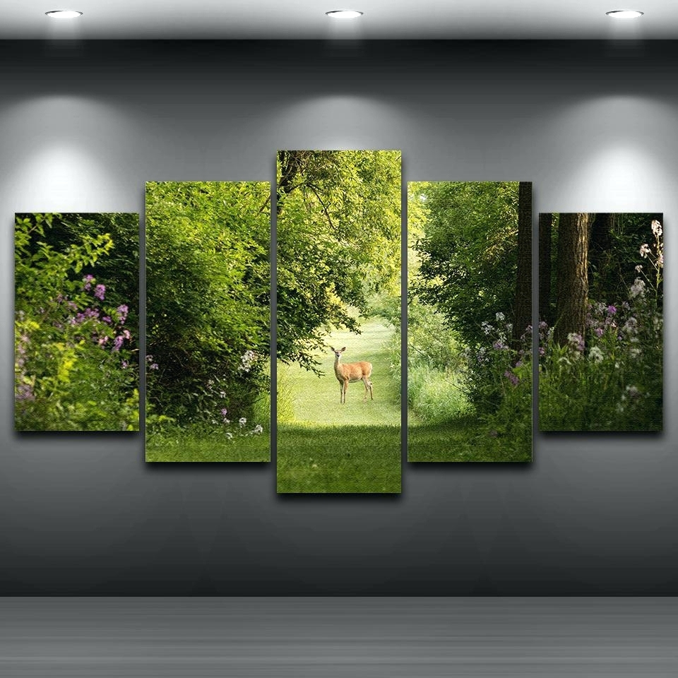 Wall Arts ~ Abstract Nature Canvas Wall Art Canvas Wall Art Sets Inside Newest Abstract Nature Canvas Wall Art (View 2 of 20)