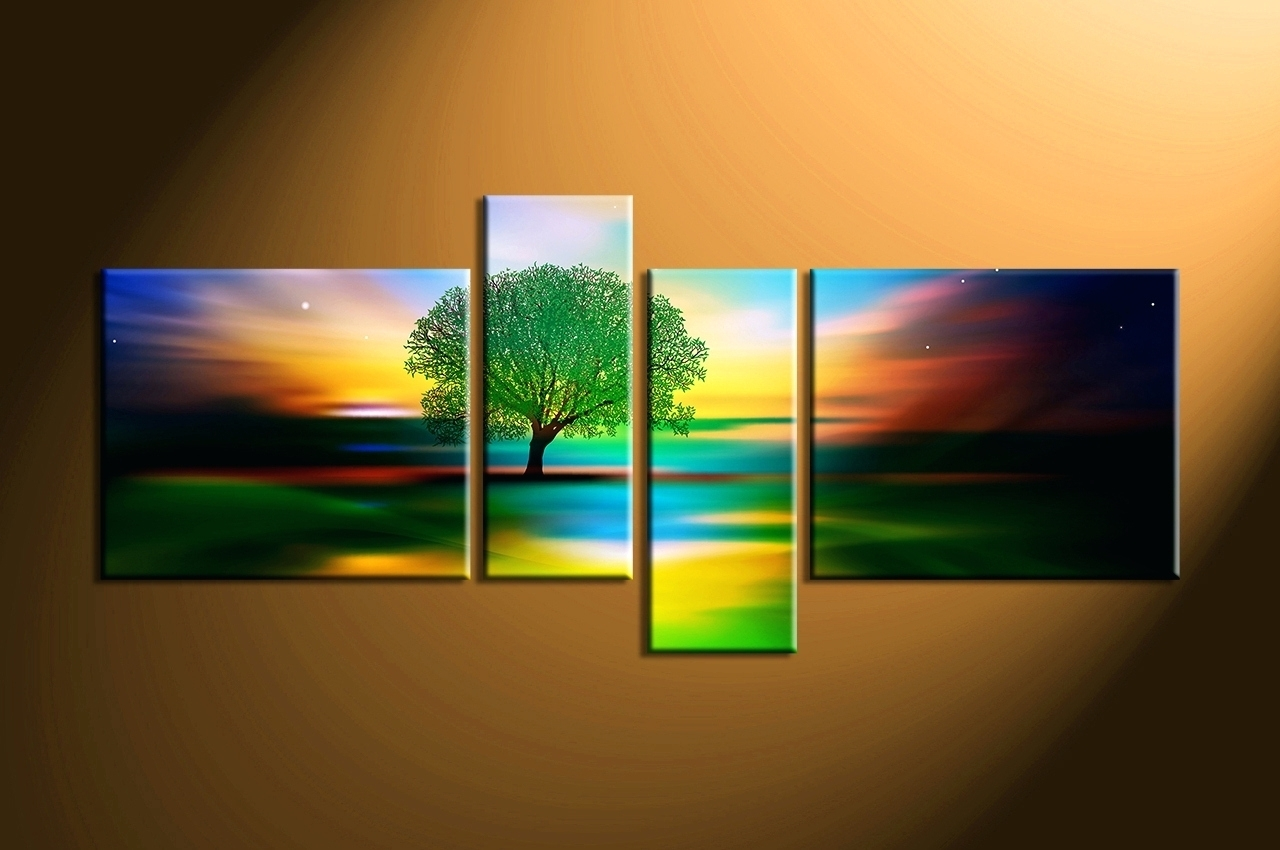 Wall Arts ~ Abstract Nature Canvas Wall Art Canvas Wall Art Sets Regarding Newest Abstract Nature Canvas Wall Art (View 12 of 20)