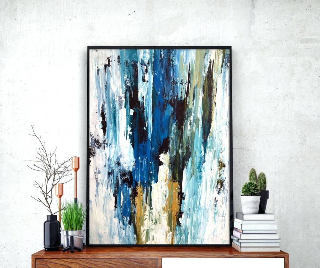 Wall Arts ~ Blue Green Abstract Wall Art Home Decor 2 Piece Canvas With Most Up To Date Blue Green Abstract Wall Art (View 20 of 20)